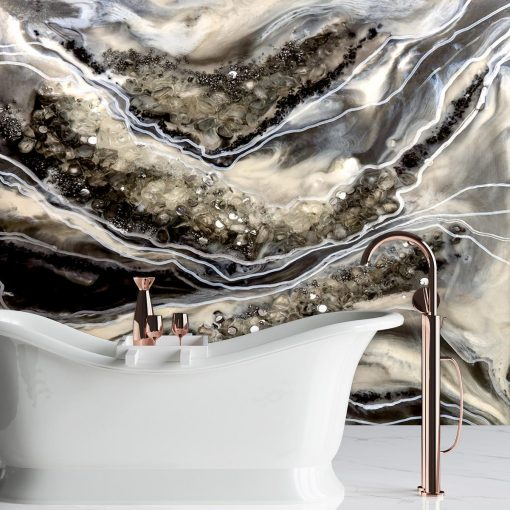 Dekoracja do łazienki fototapeta abstrakcja geode art