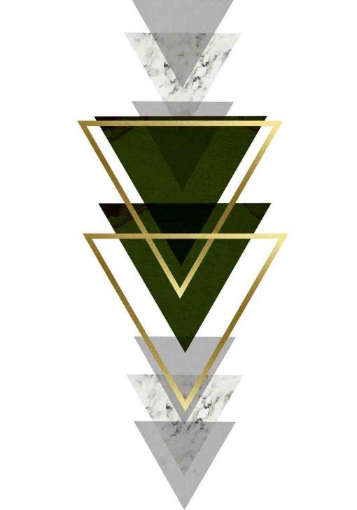 plakat do firmy z trójkątami