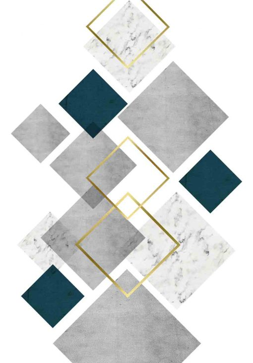 plakat z motywem geometrycznej abstrakcji