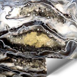 Fototapeta dekoracja z kamieniami geode style