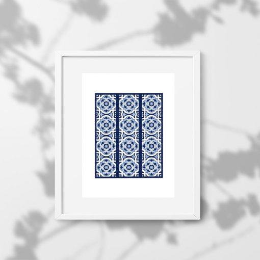 Plakat z rozetami w niebieskim kolorze