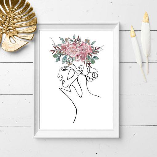 plakat z różami