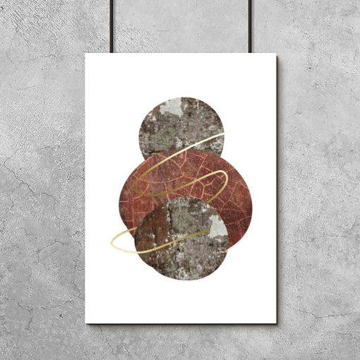 plakat z motywem kamieni