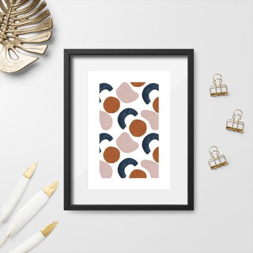 abstrakcyjny plakat do salonu