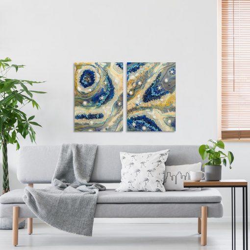 dekoracja na ścianę żywica epoksydowa obrazy zestaw