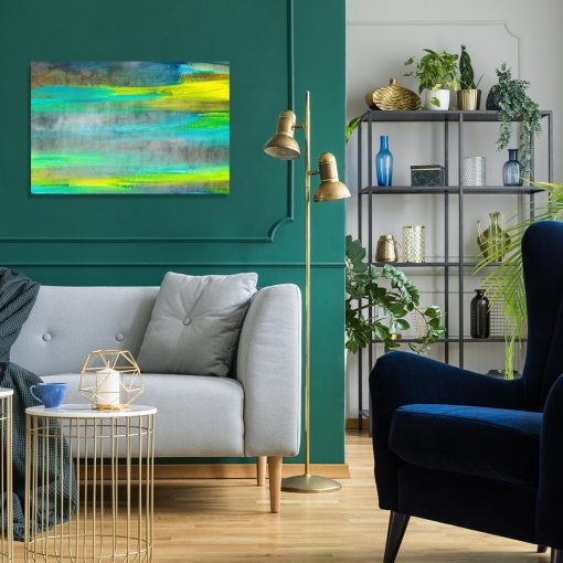 obraz do salonu z plamami farby