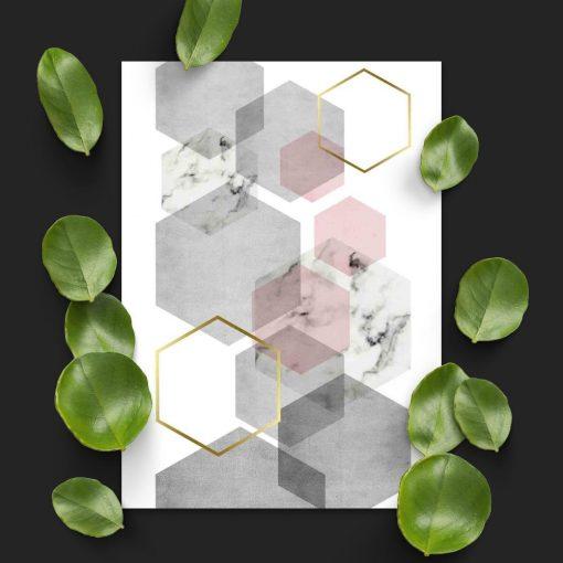 plakat do domu z figurami geometrycznymi
