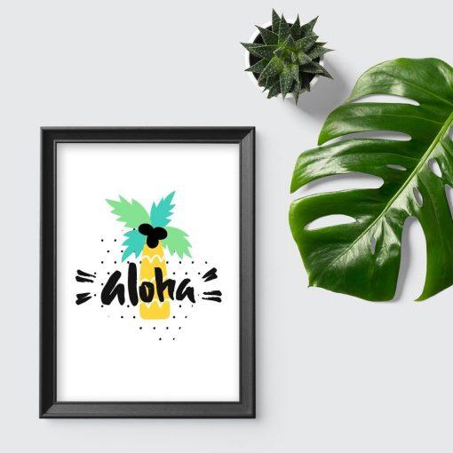 plakat z hawajskim powitaniem