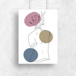 Plakat z zarysem ludzkiego torsu
