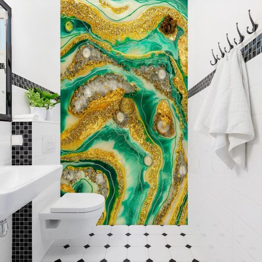 Ściana geode art z żywicy - dekoracja do łazienek