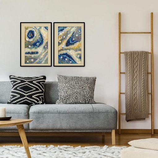 reprodukcja obrazu do salonu żywica abstrakcja