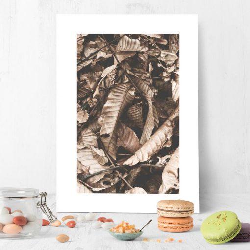 Plakat do oprawienia czekoladowe liście
