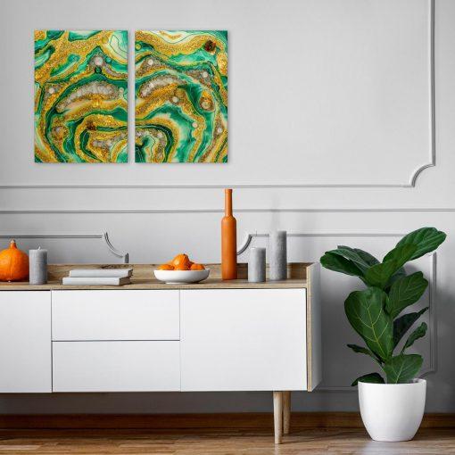 Obraz z motywem abstrakcyjnym z żywicy malarstwo