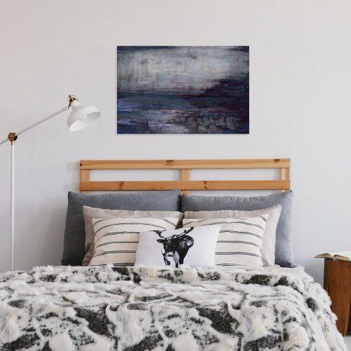 obraz do sypialni z abstrakcyjnymi mazajami