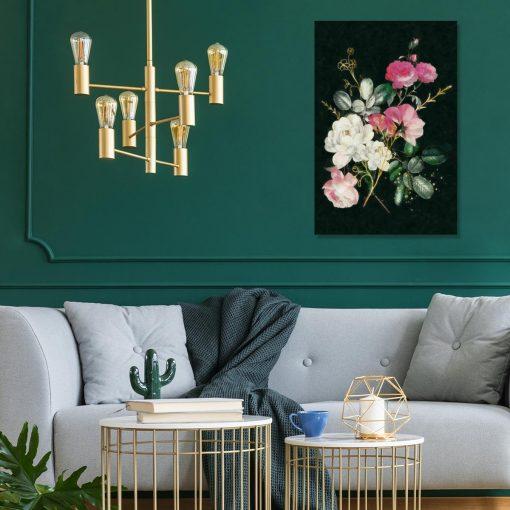 Obraz z motywem pięknych kwiatów do salonu