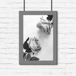 Plakat z motywem dwóch róż