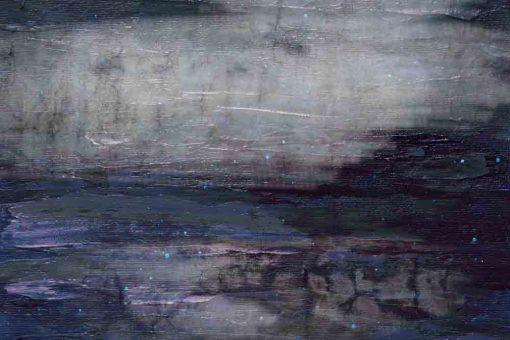 obraz z abstrakcyjnymi pociągnięciami pędzla na betonowym tle