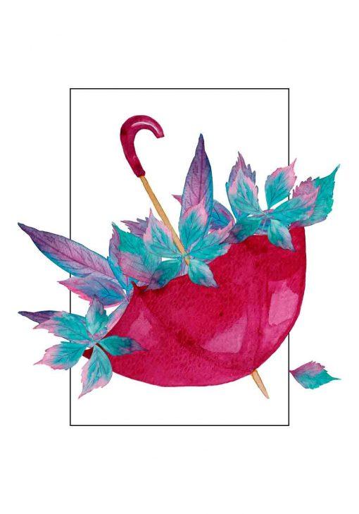 plakat z jesiennym motywem
