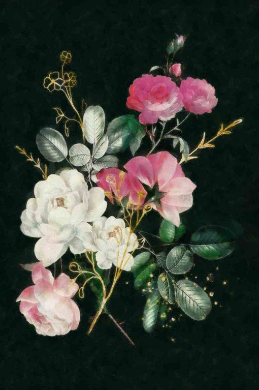 Obraz przedstawiający piękny bukiet kwiatów