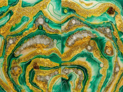 Obraz inspiracja sztuką żywiczną reprodukcja malarstwa z abstrakcją