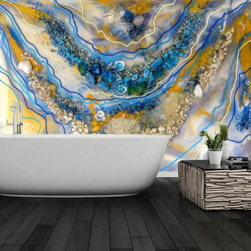 fototapeta malarstow żywicą abstrakcja kolorowa do łazienki