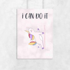 Plakat - I can do it do studia pole dance