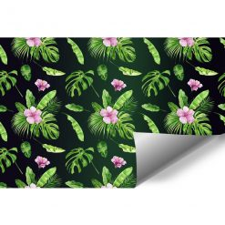 śliczne różowe kwiatuszki na foto-tapecie
