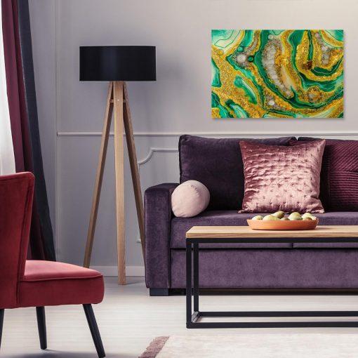 Obraz do salonu malarstwo żywicą abstrakcja kolorowa