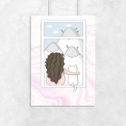 Plakat do pokoju dziecka z kotem