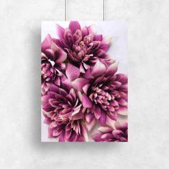 Plakat z fioletowymi kwiatami do salon