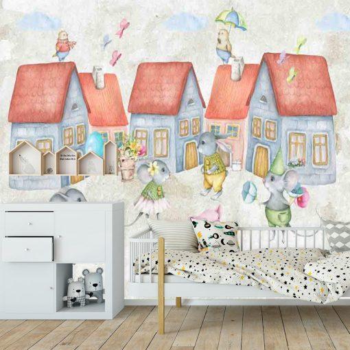 Fototapeta do pokoju dziecka z motywem myszek
