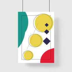 kolorowy abstrakcyjny plakat - koła