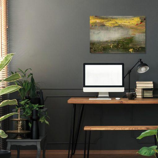 obraz do biura z mazajami farby