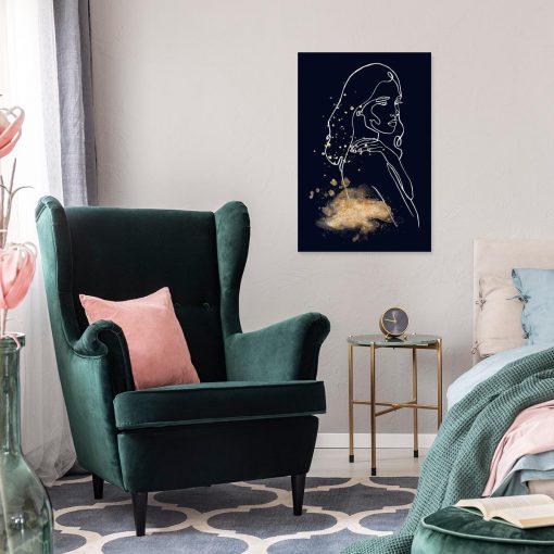 Obraz z motywem kobiety do sypialni