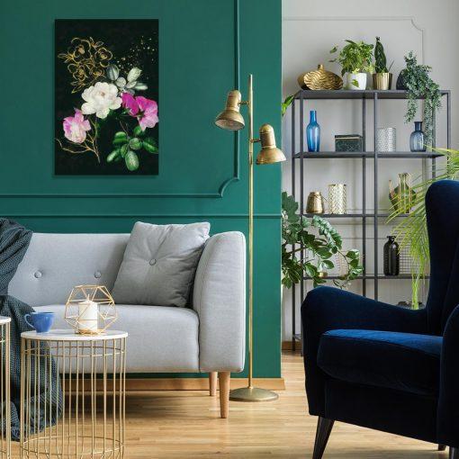 Obraz z pięknymi różami do salonu