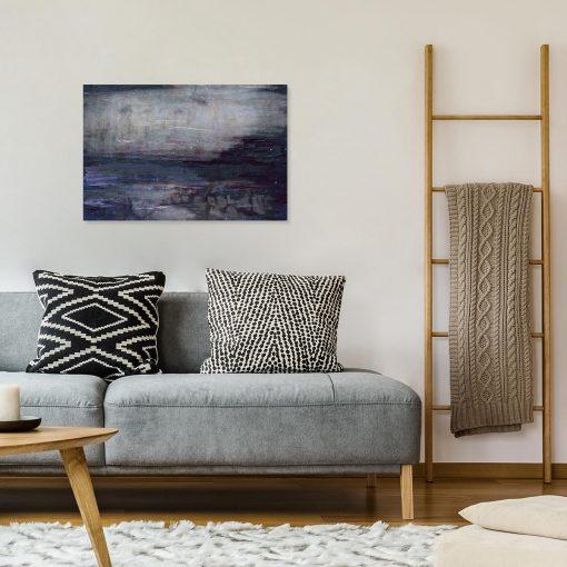 obraz do salonu przedstawiający mazaje na betonowym tle