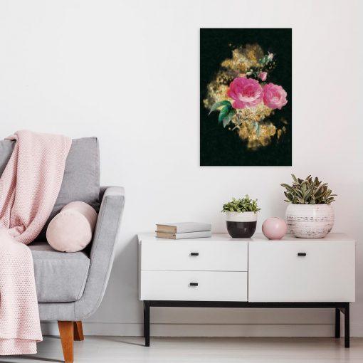 Obraz z kwiatowym wzorem do salonu