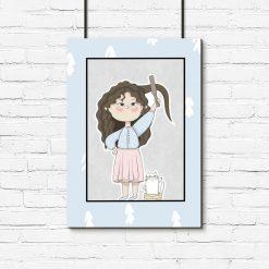 Plakat do pokoju dziecka - Poranne przygotowania