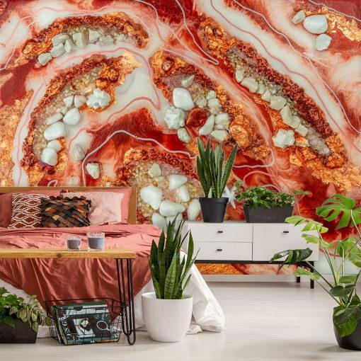 Dekoracja do sypialni fototapeta abstrakcja geode art