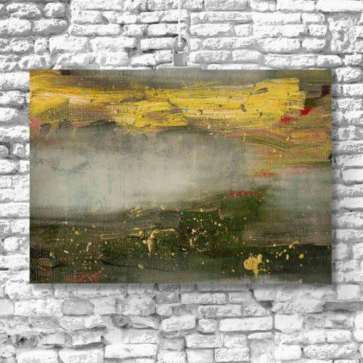 abstrakcyjny obraz z motywem plam od pędzla
