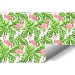 foto-tapeta do sypialni z tropikalnym liściem