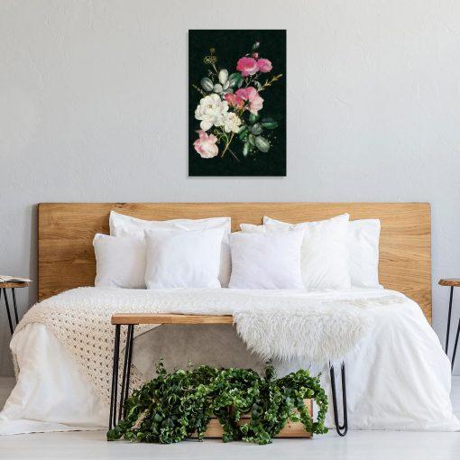 Obraz z motywem bukietu róż do sypialni