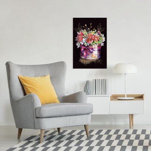 Obraz przedstawiający kwiaty do biura