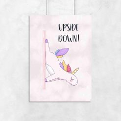 Plakat do studia pole dance - Upside down!