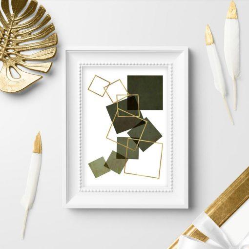 Plakat do sypialni - Kwadrat