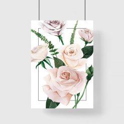 jasno-herbaciana róża na plakacie dla dziewczyny