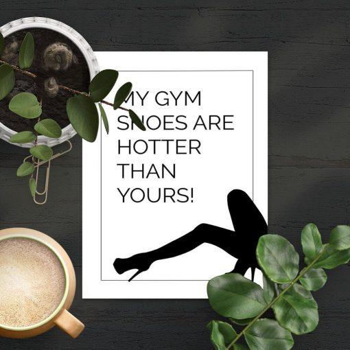 Plakat z typografią - My gym shoes