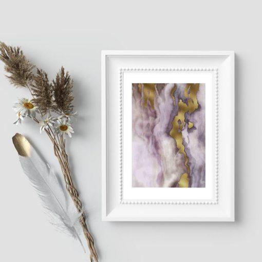 Plakat z marmurkową abstrakcją do pokoju