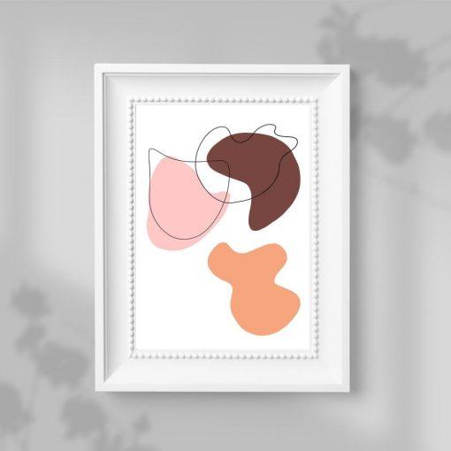 Abstrakcyjny plakat w plamy do przedpokoju