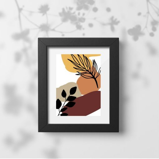 Nowoczesny plakat z liśćmi na prezent